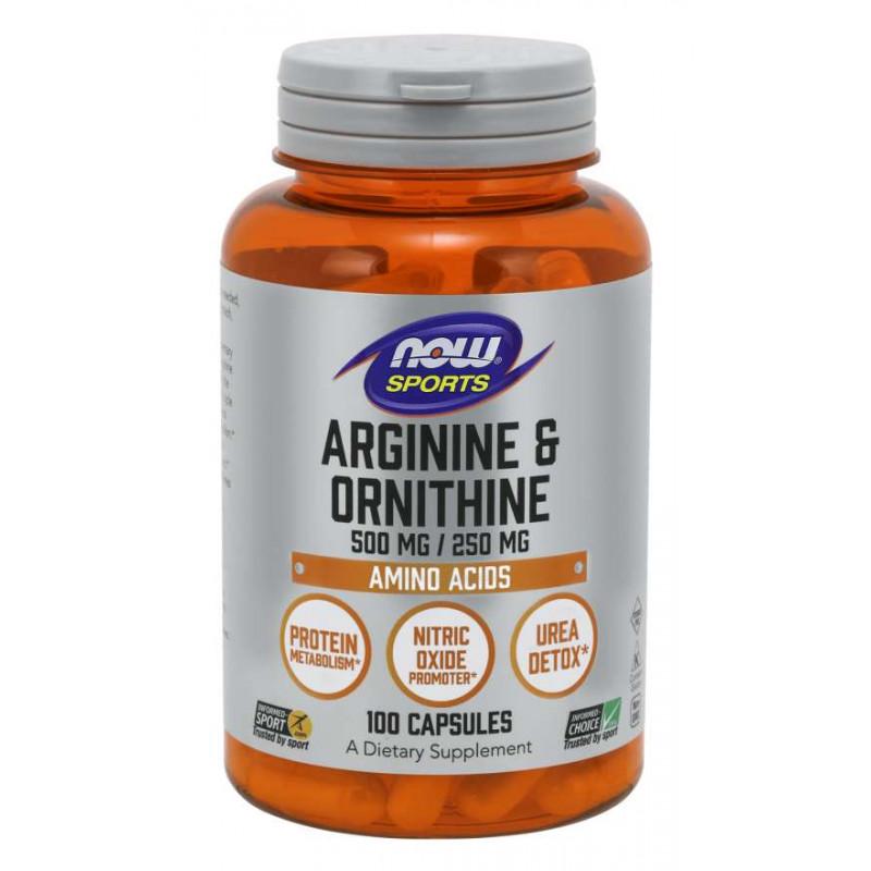 Arginine & Ornithine 500/250 мг - 100 Капсули