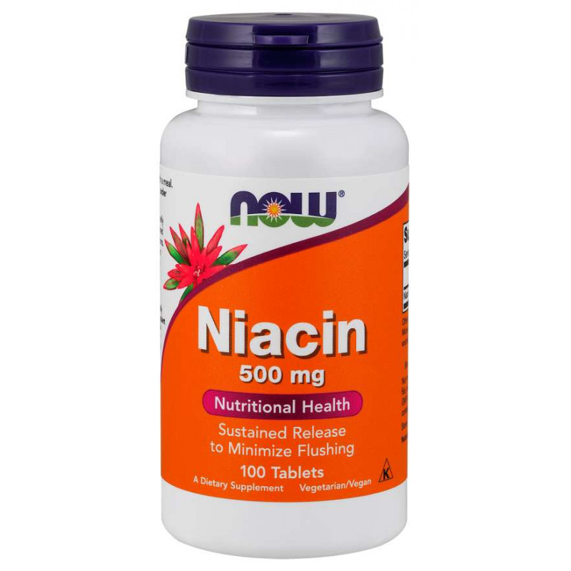 Vitamin B-3 (Niacin) 500 мг - 100 Таблетки