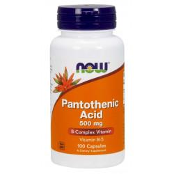Vitamin B-5 (Pantothenic Acid) 500 мг - 100 Капсули