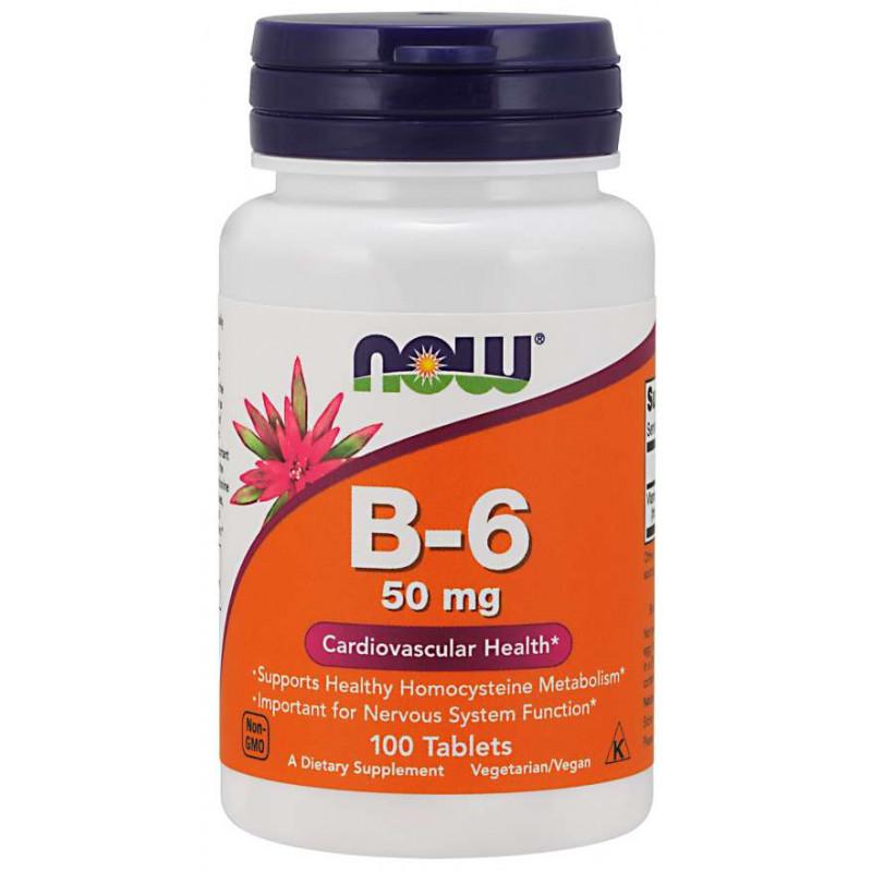 Vitamin B-6 (Pyridoxine) 50 мг - 100 Таблетки
