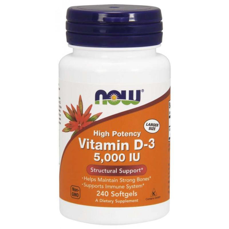 Vitamin D-3 5000 IU - 240 Дражета