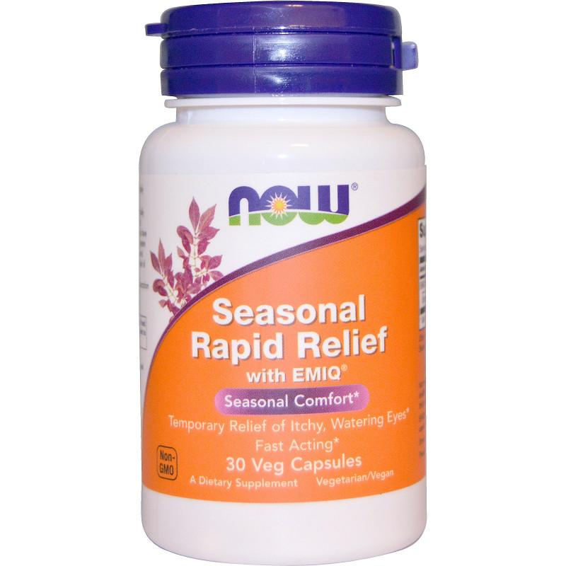 NOW - Seasonal Rapid Relief - 30 veg капсули