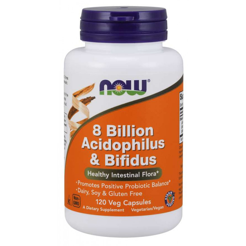 8 Billion Acidophilus & Bifidus - 120 Vcaps