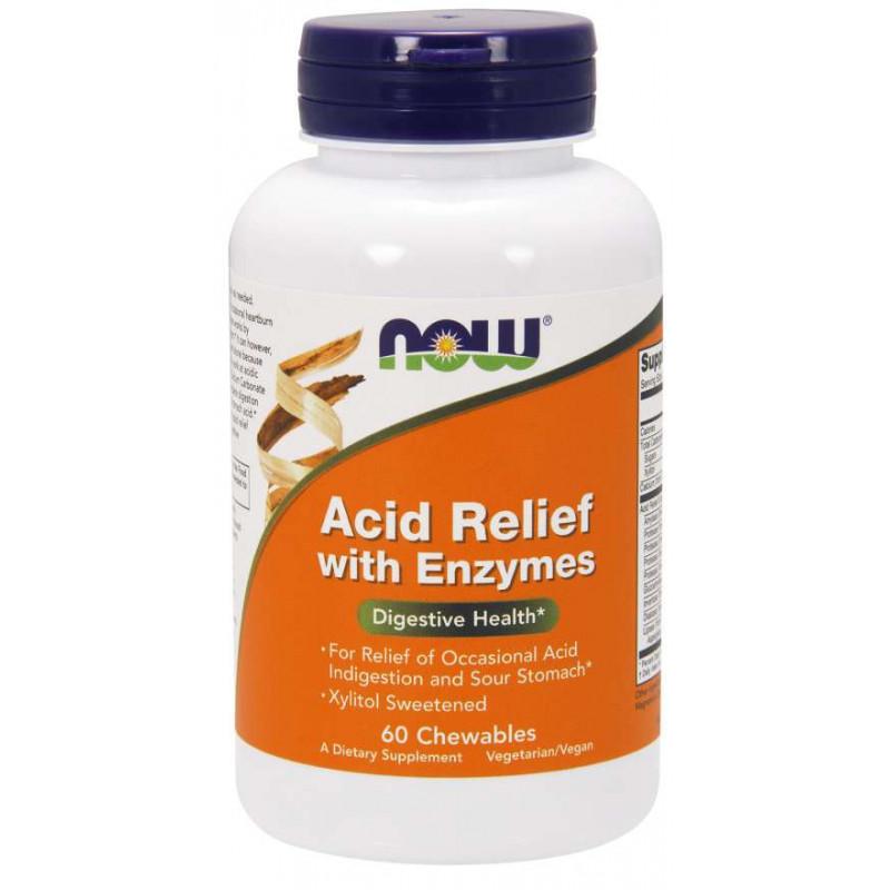 ACID RELIEF CHEW ENZYMES- 60 дъвчащи таблетки