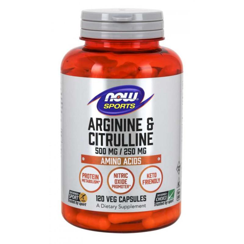 Arginine 500 mg & Citrulline 250 mg - 120 vcapsules