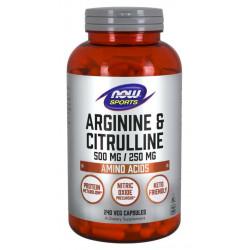 Arginine 500 mg & Citrulline 250 mg - 240 vcapsules