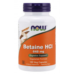Betaine HCl 648 мг - 120 Капсули