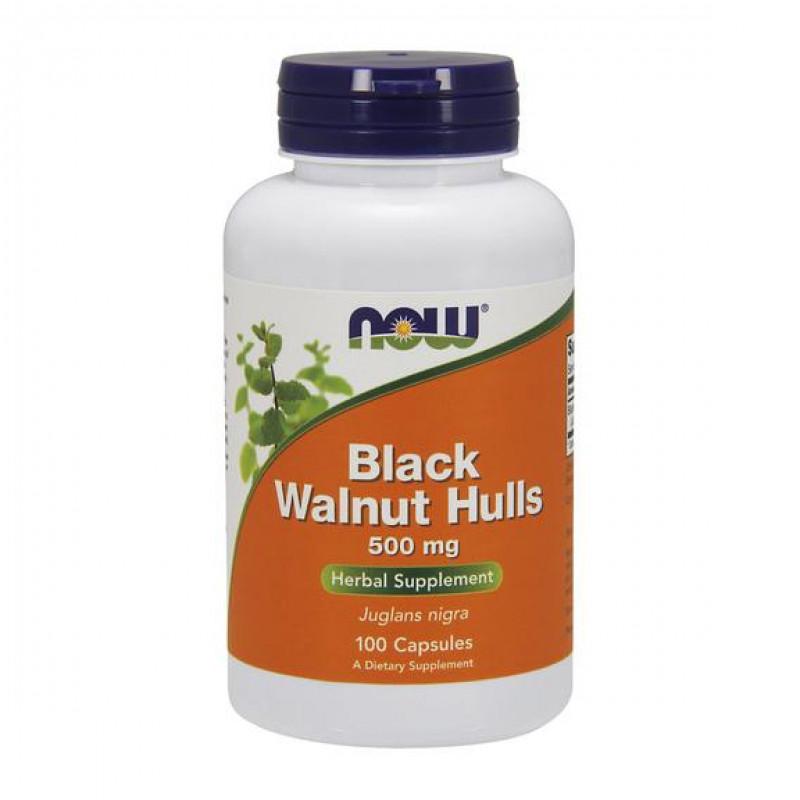 Black Wallnut Hulls (Люспи от Черен Орех) 500 мг - 100 Капсули