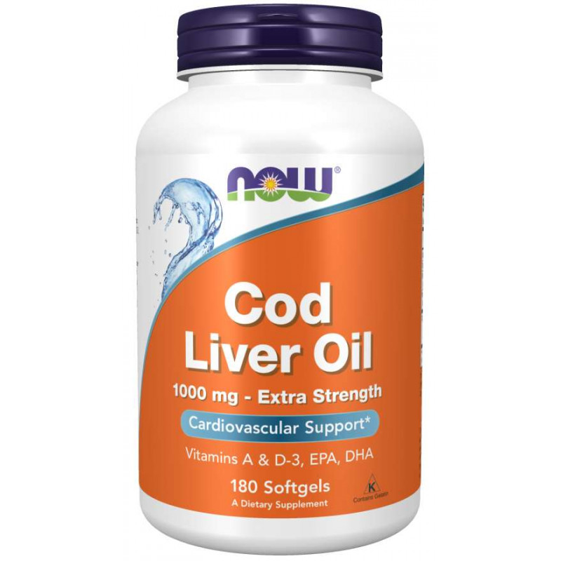 Cod Liver Oil 1000 мг - 180 Дражета