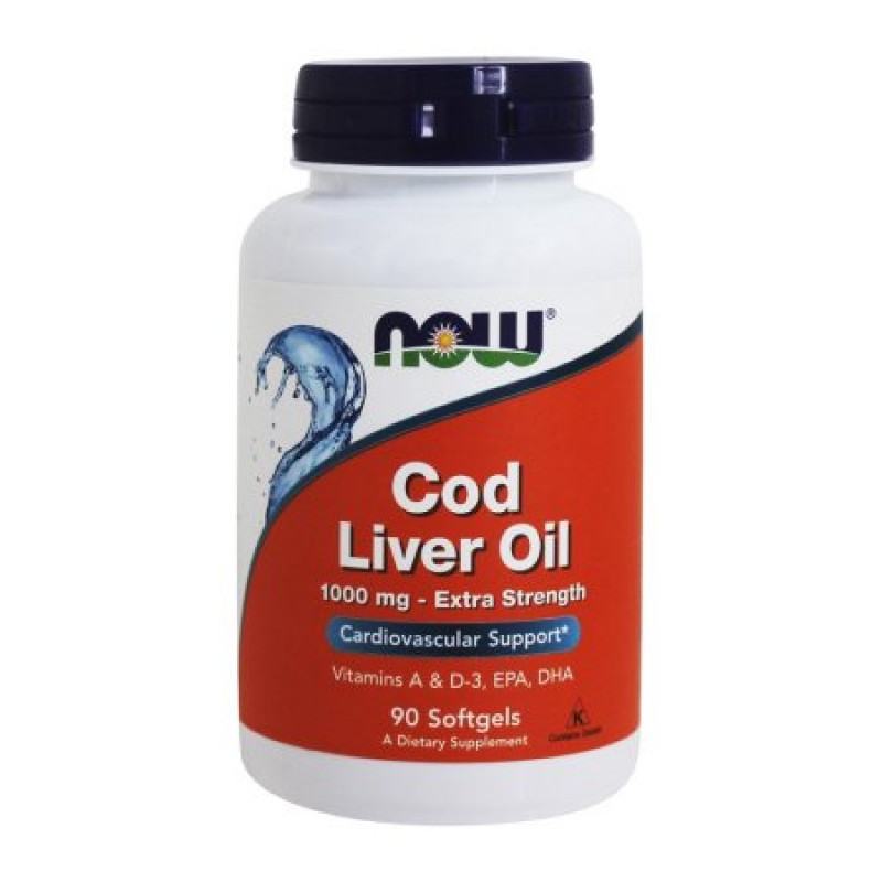 Cod Liver Oil 1000 мг - 90 Дражета