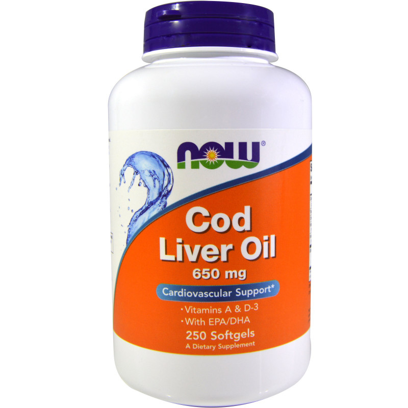 Cod Liver Oil 650 мг - 250 Дражета