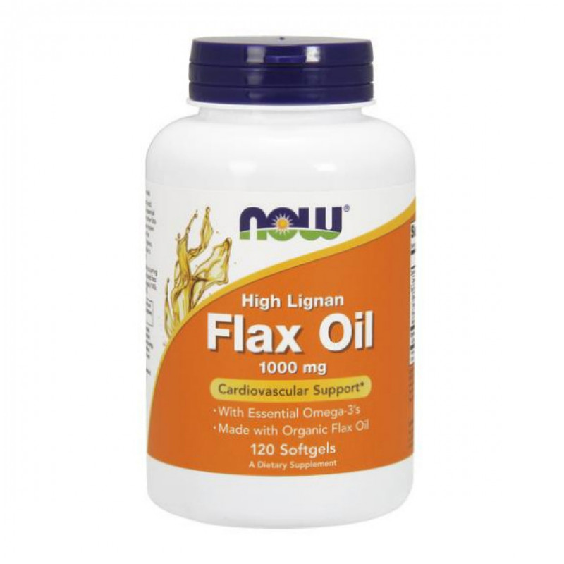 Flax Oil (High Lignan) 1000 мг - 120 Дражета