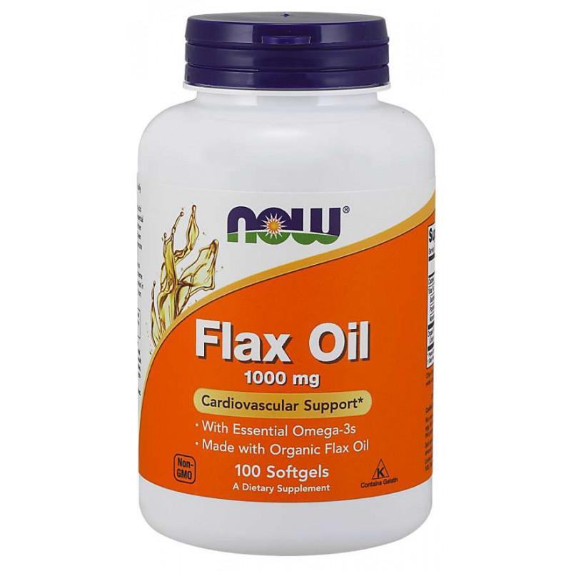 Flax Oil (Organic) 1000 МГ - 100 Дражета