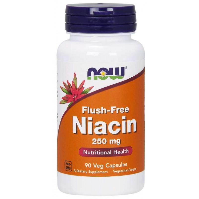 Flush-Free Niacin (Недразнеща форма на Витамин B-3) 250 МГ - 90 Капсули