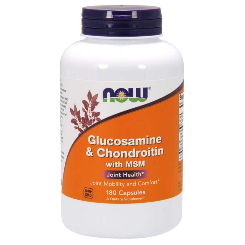 Glucosamine & Chondroitin с MSM - 180 Капсули