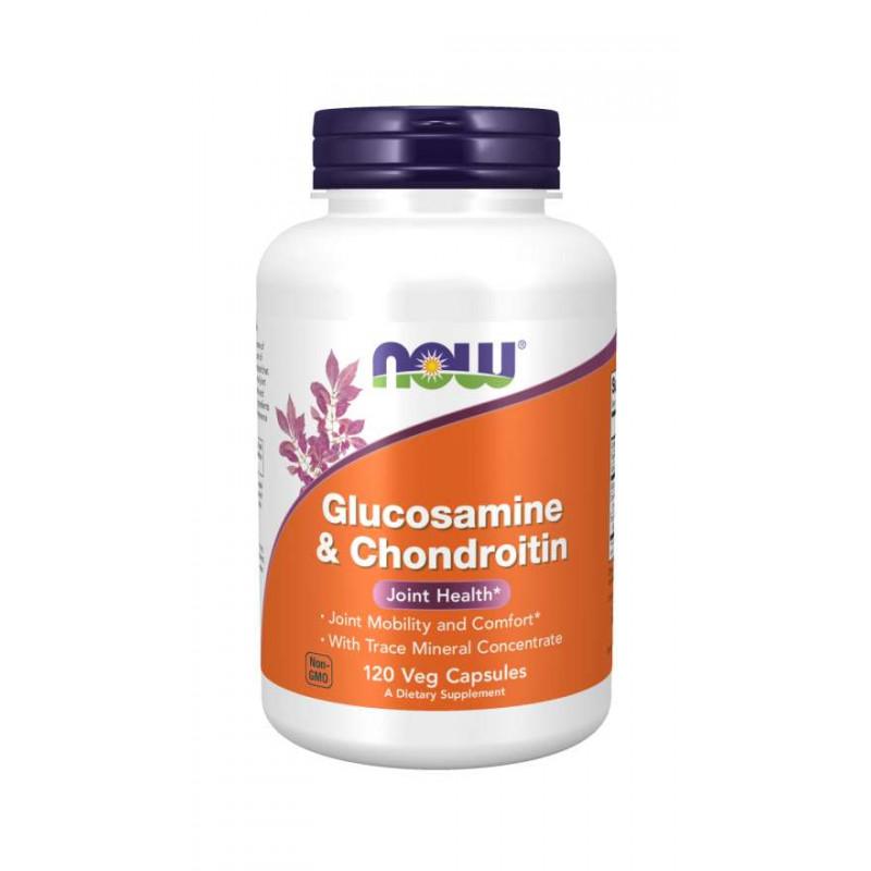 Glucosamine & Chondroitin + Trace Mineralis - 120 веган капсули