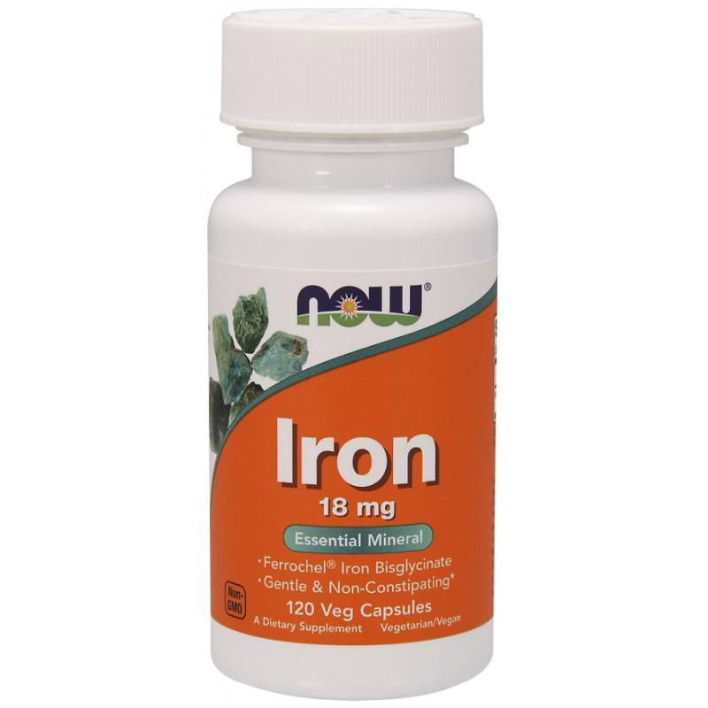 Iron 18 mg Ferrochel ( желязо ) - 120 веган капсули