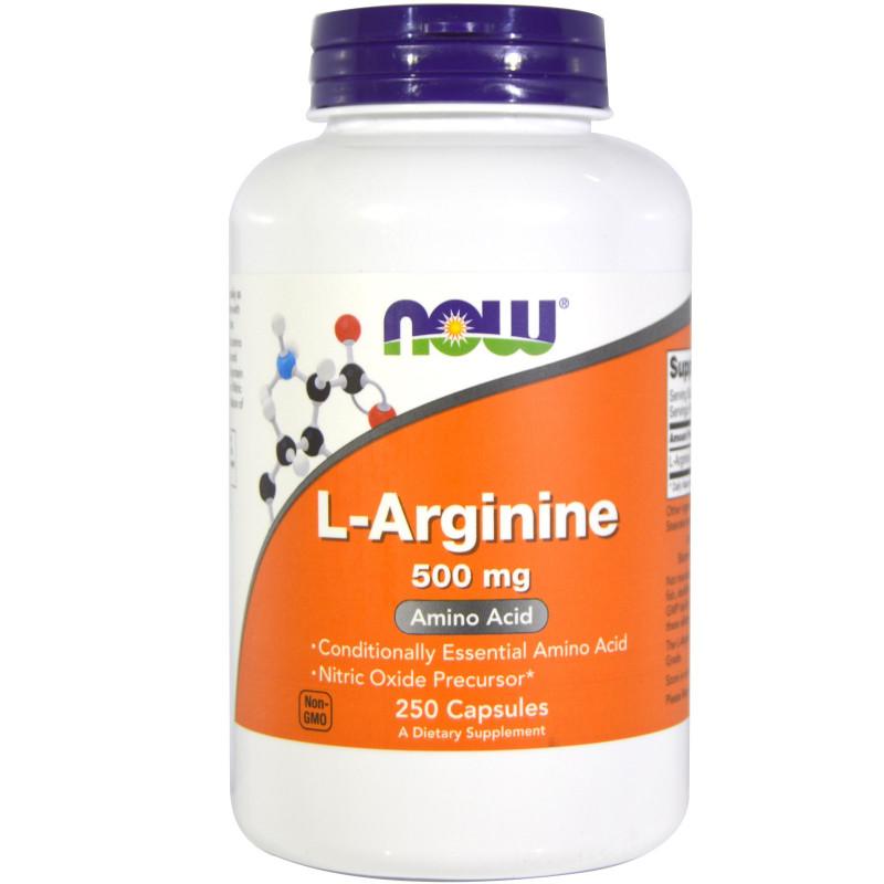 L-Arginine 500 мг  - 250 Капсули
