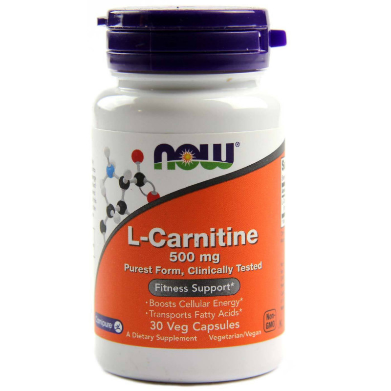 L-Carnitine 500 мг - 30 Капсули
