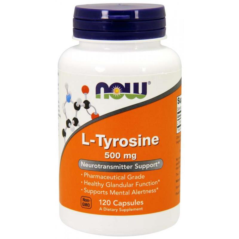 L-Tyrosine 500 мг - 120 Капсули