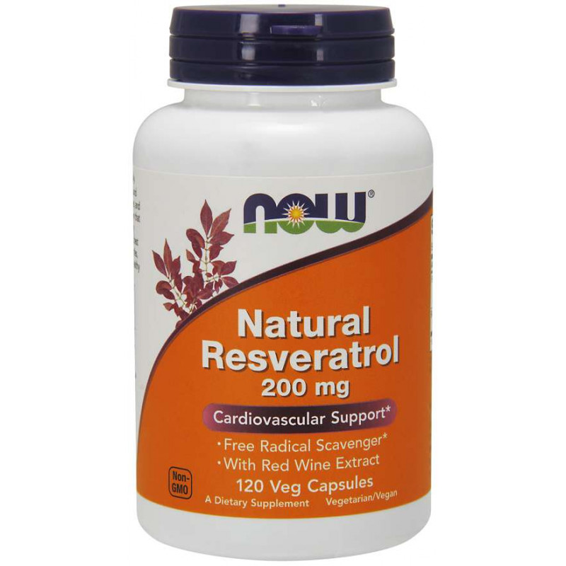 Natural Resveratrol 200 мг - 120 Капсули