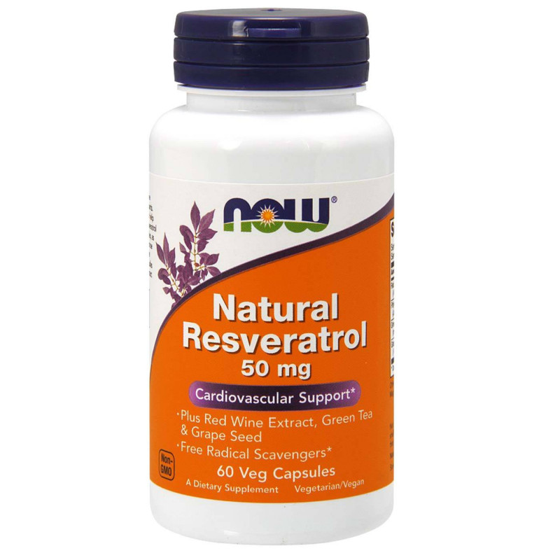 Natural Resveratrol 50 мг - 60 Капсули