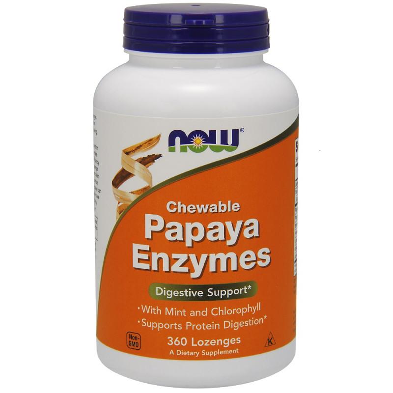 Papaya Enzymes - 360 Дъвчащи Таблетки