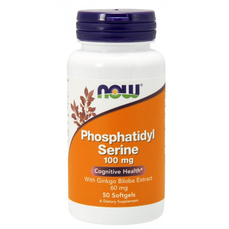 Phosphatidyl Serine 100 mg + Ginkgo (ФОСФАТИДИЛ СЕРИН И ГИНКО БИЛОБА) - 50 дражета
