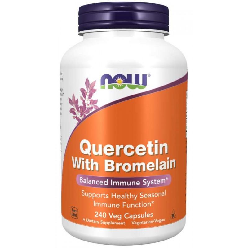 Quercetin + Bromelain - 240 Капсули