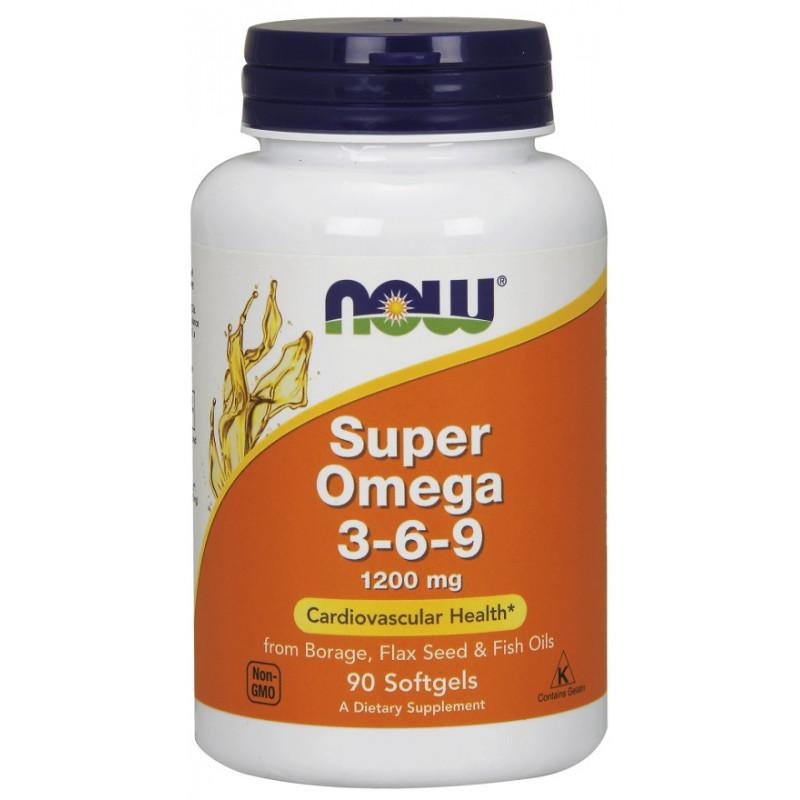 Super Omega 3-6-9 - 1200 мг - 90 дражета