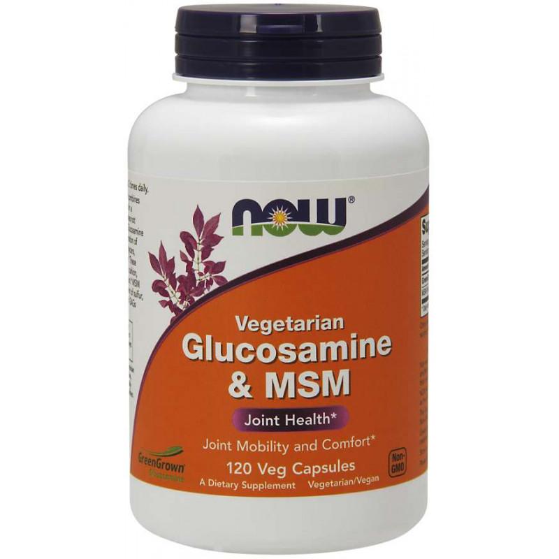 Vegetarian Glucosamine & MSM 500/500 - 120 Veg Capsules