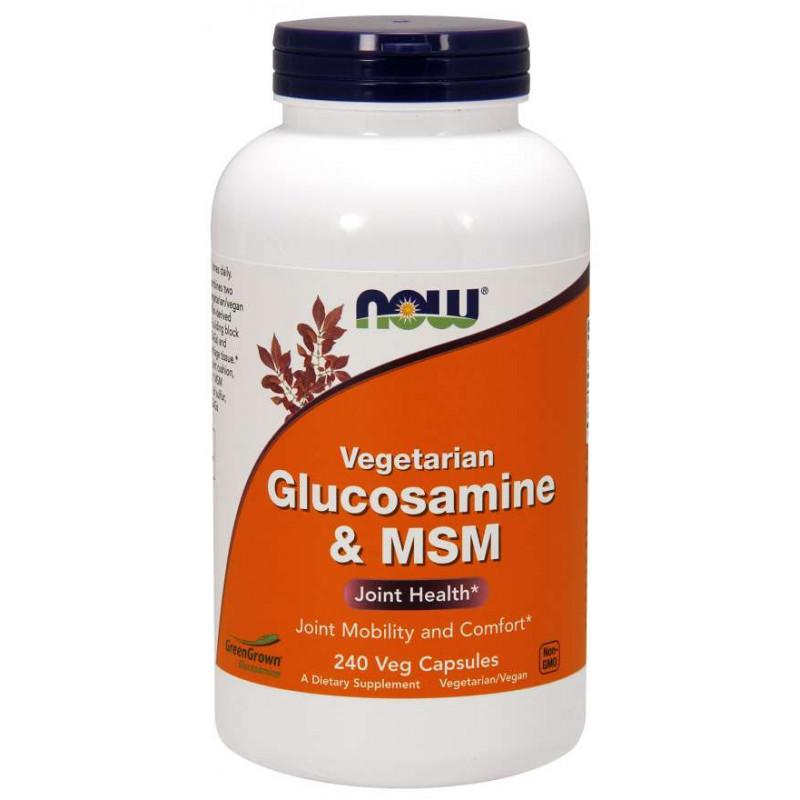 Vegetarian Glucosamine & MSM 500/500 - 240 Veg Capsules
