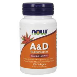 Vitamin A & D 10,000/400 IU - 100 Дражета
