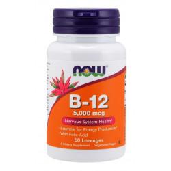 Vitamin B-12 5000 mcg + Folic Acid - 60 дражета