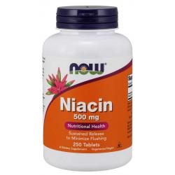 Vitamin B-3 (Niacin) 500 мг - 250 Таблетки