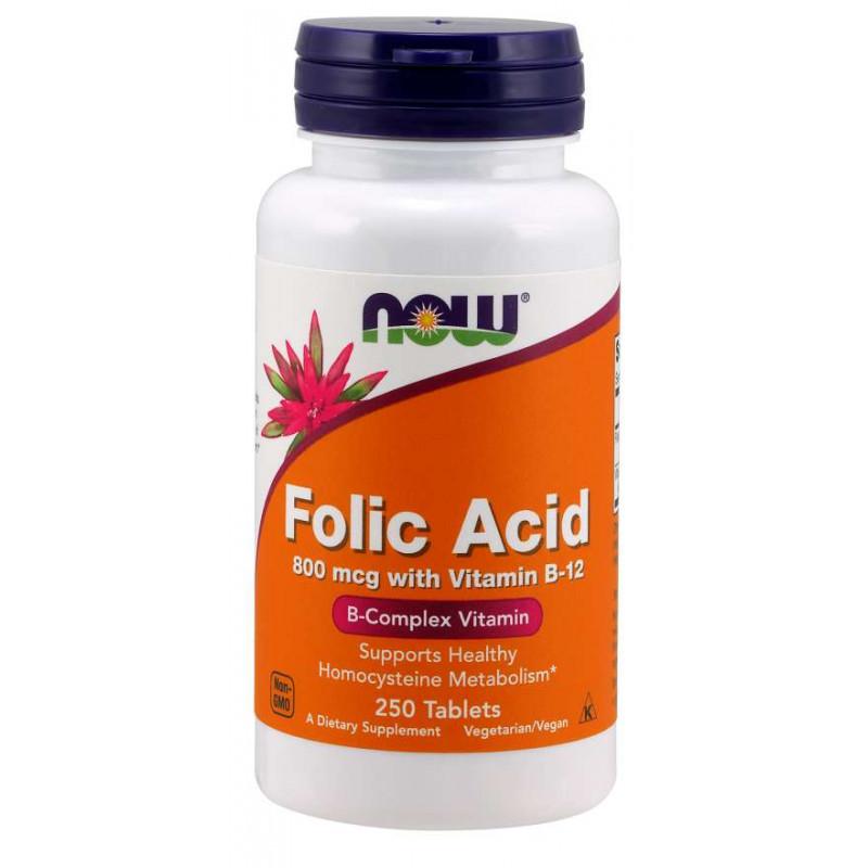 Vitamin B-9 (Folic Acid) + B-12 - 250 Таблетки