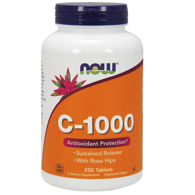 Vitamin C-1000 (Постепенно освобождаване) - 250 Таблетки