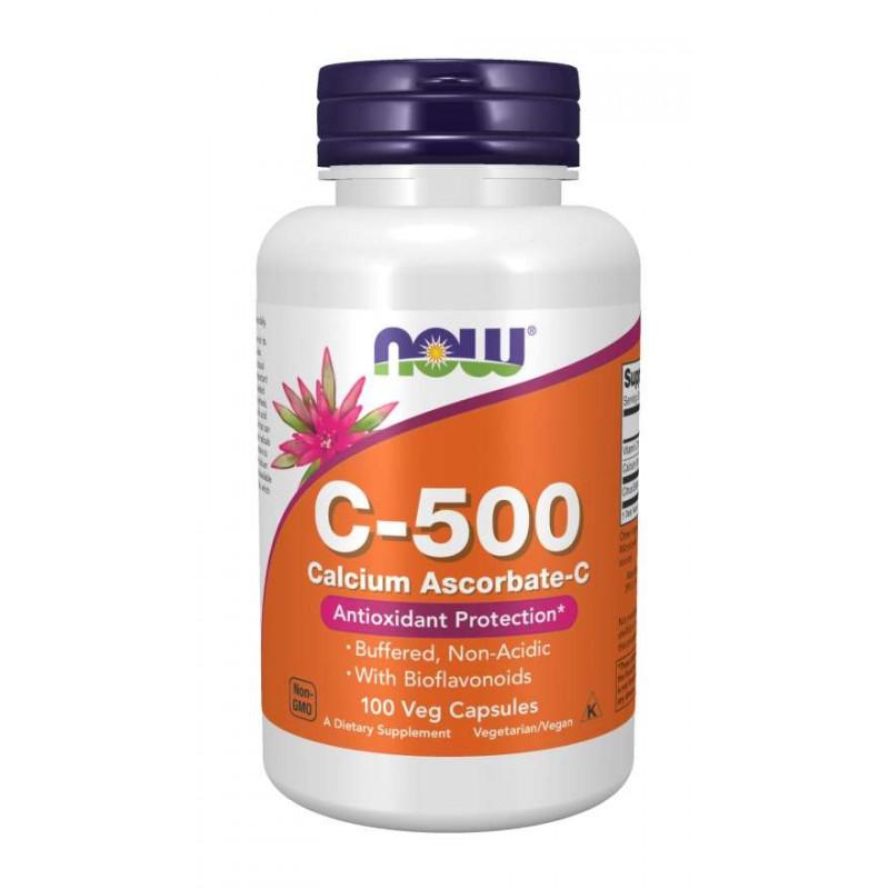 Vitamin C-500 Ascorbate - 100 веган капсули