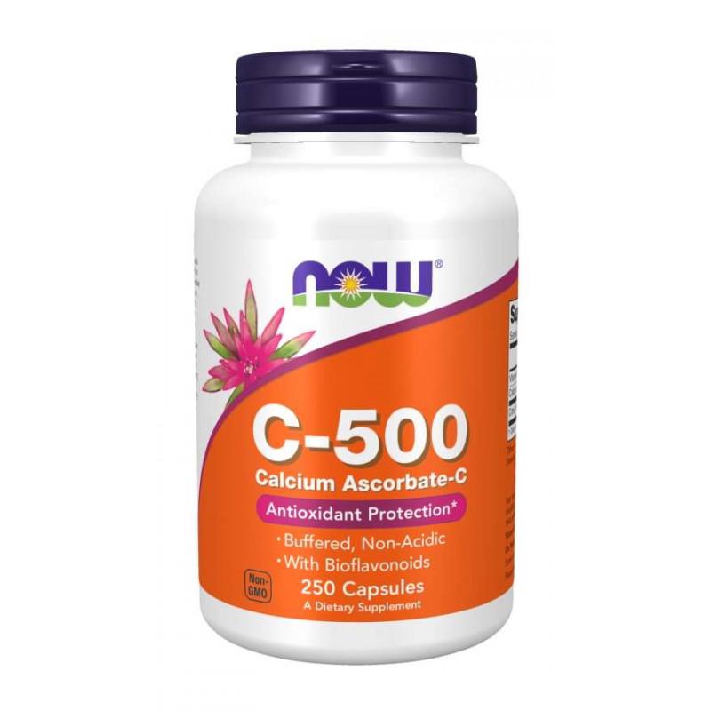 Vitamin C-500 Ascorbate - 250 веган капсули