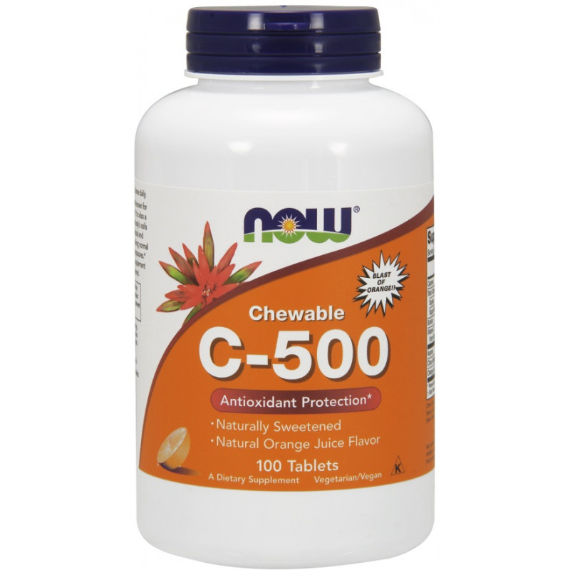 Vitamin C-500 - Chewable Orange - 100 таблетки