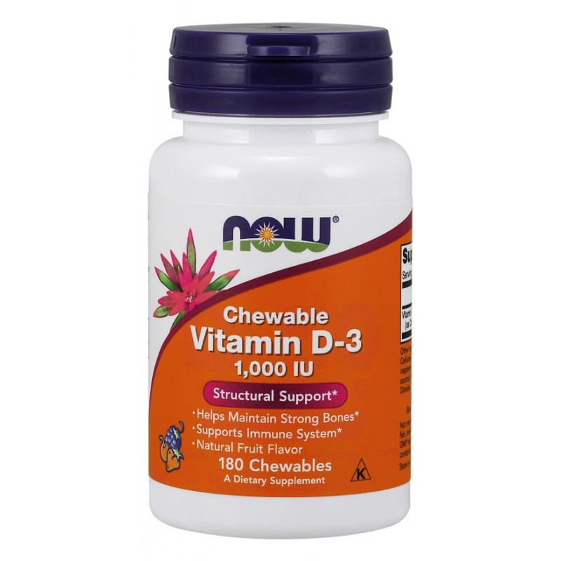 Vitamin D-3 1000 IU - 180 плодови дражета