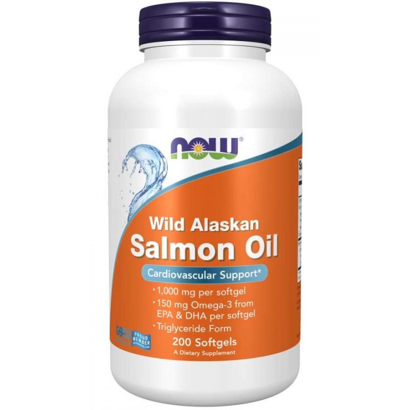 Wild Alaskan Salmon Oil - 200 дражета
